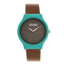 Crayo Glitter Strap Watch - Teal/Brown - £113.26 GBP