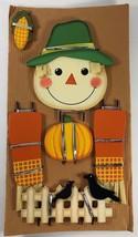 NEW AVON Halloween Dress Up Pumpkin Characters Wooden Scarecrow - $14.84