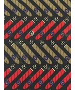 "Vicky Davis Cigar Tie 100% Silk ""Light Up"" Necktie 1 Unique Band On The ... - $19.31"