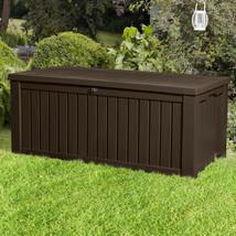 Keter Rockwood 150 Gallon Plastic Deck Box - $166.77