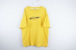 Vtg 90s Tommy Hilfiger Jeans Mens XL Script Spell Out Stitched T Shirt Y... - $44.50