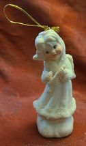 Vintage Angel Playing Flute Ornament 5 Inches Bisque Porcelain image 6