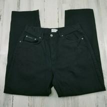Calvin Klein Easy Fit Straight Leg Black Cotton Jeans Mens 33x32 ACTUAL ... - $21.33