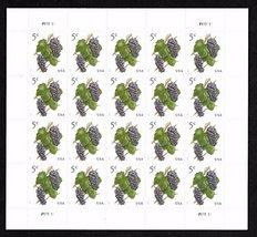 2017 Grapes 5 Cent Stamp Sheet of Twenty Stamps Scott 5177 - $6.19