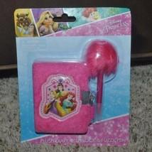 Girls Princess Diary Mattel Disney Princess Pink Plush with Lock & Fuzzy... - $7.92