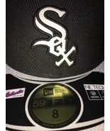 Chicago White Sox Hat 8 New Era 59FIFTY brand new Black Silver - $32.73