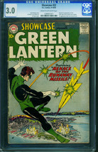 Showcase #22 CGC 3.0-First appearance of Green Lantern 1959 DC 1289931011 - $3,084.60