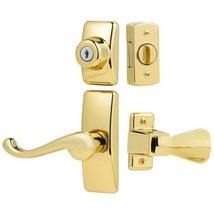 Storm Screen Door Lock Latch Lever Handle Keyed Deadbolt Modern Hardware... - $50.60