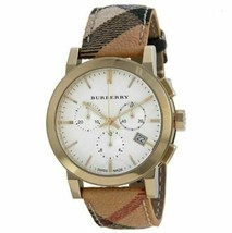 NWT The City Chronograph White Dial Haymarket Check Unisex Watch bu9752 - $419.95