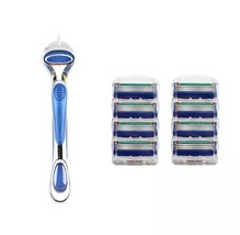 Fusion5 Shaving Razor Blade Replacement Kit With Handle And 8 Refill Car... - $18.81