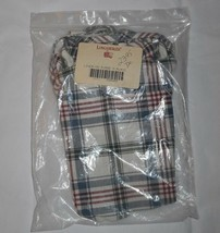 LONGABERGER BASKET FABRIC LINER ONLY MD PURSE M PLAID WHITE RED BLUE 209402 - $14.03