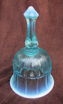 """Fenton blue opalescent bell  6 1/2"""" smooth edge - $22.50"""