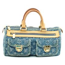 Louis Vuitton Monogram Denim Neo Speedy Blue Hand Bag M95019 Lv Auth 8252 - $580.00