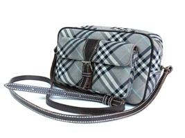 Auth BURBERRY LONDON BLUE LABEL Nylon Canvas Gray Cross-Body Shoulder Bag - $169.00