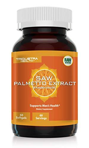 Saw Palmetto Extract 100% Extract Plus Pumpkin Seed Oil: Pharmaceutical Grade Sa