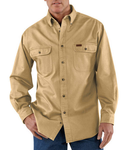 3xl regular CARHARTT SANDSTONE TWILL WORK SHIRT STYLE S09 STRAW SIZE 3xl regular