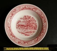 Vintage Royal Memory Lane Pink Rim Soup Bowl 8 3/8 inch - $9.99