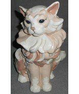 """Large KAY FINCH 10 1/2"""" Sitting PINK/WHITE Cat Figurine MADE IN CALIFORNIA - $247.49"""