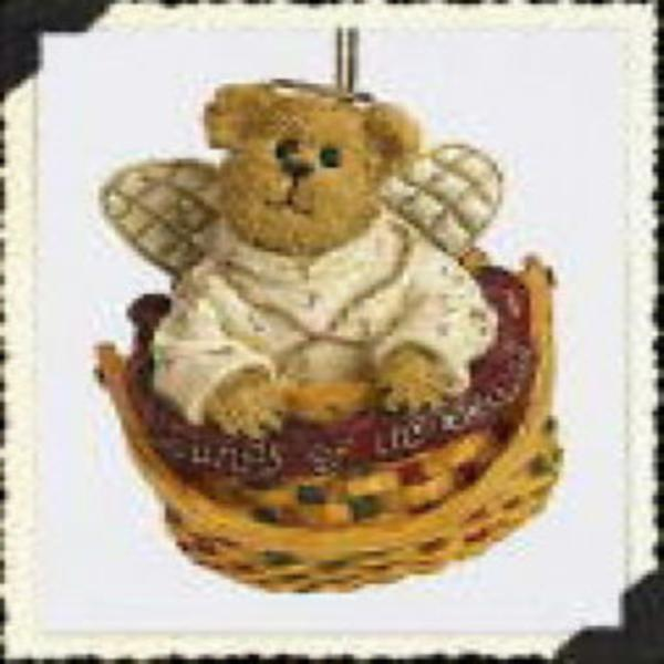 "Boyds Bearstone Ornament- ""Melody Angelbeary"" - #257040LB- Longaberger Exclusive"