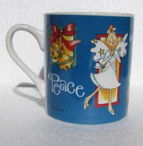 "Marie Cole ""Peace, Noel & Joy"" Christmas  Collectible Blue White Ceramic... - $11.19"