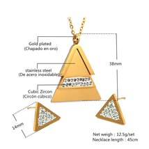 Stainless Steel Jewelry Sets Necklace Earrings Jewelry Set for women image 2