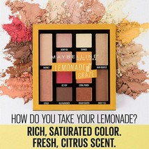 Maybelline New York Lemonade Craze Eyeshadow Palette (Key 100 )- SEALED - $9.04
