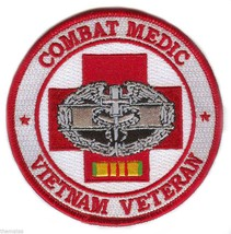"COMBAT MEDIC VIETNAM VETERAN BADGE RIBBON EMBROIDERED MILITARY 4"" PATCH - $23.74"