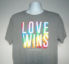 Love Wins Gay Pride 2018 LGBT T Shirt Mens Large Soft Washed gray Old Na... - $15.91