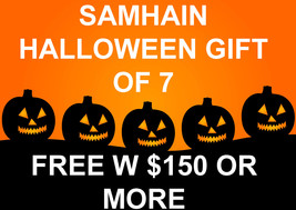 FREE W $150 SAMHAIN HALLOWEEN MYSTERY GIFT OF 7 WORTH $300 MAGICK CASSIA4 - $0.00
