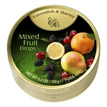 Cavendish & Harvey Mixed Candy Tin, Fruit, 5.3 Ounce Pack of 12