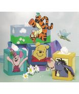 Pooh Collection tissue box covers: winnie the pooh tigger eeyore piglet turtle - $22.36