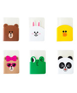 LINE Friends Clear Passport Case Character Cover ID Card Holder Gift Tra... - $14.99