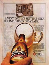 1984 Vintage  Stroh's Beer Full Page Color Print Ad -  Near Mint - $7.69
