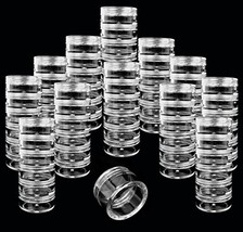Beauticom 12 Pack(72 Pieces) 5G/5ML Transparent Stackable Plastic Storag... - $17.44