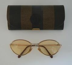 Vintage Eyeglasses FRAMES Fendi Model F83 Bronze/ Gold Accents 53-18-125 + Case - $73.00