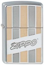 Zippo Lighter Zippo Lines, High Polished Chrome - $32.62