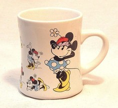Disney Minnie Mouse Blue Dress Red Hat Emotions Coffee Ceramic Mug Cup  - $9.10
