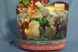 Toys New Marvel Heroes 3 pack Deluxe Figures Iron Man Hulk Black Widow - $12.95