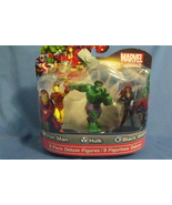 Toys New Marvel Heroes 3 pack Deluxe Figures Iron Man Hulk Black Widow - $18.95