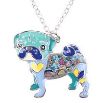 Necklaces Pendant Dog Pug Animal Zinc Alloy New Female Fashion Jewelry Accessory image 2