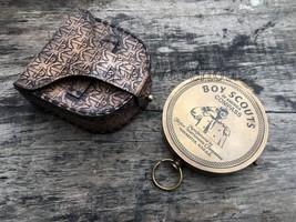 Handmade Marine Brass Compass Vintage Boy Scouts America Desk Compass De... - $20.83