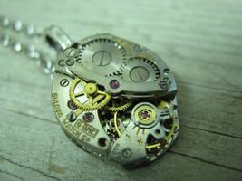 Mens Necklace, Steampunk Necklace, Steampunk Gear Necklace, Mens Necklac... - $39.09