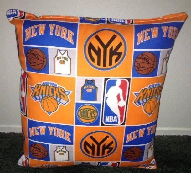 Knicks Pillow New York Knicks Pillow NBA Handmade in USA