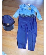 Size 18-24 Months Police Officer Cop Halloween Costume Jumpsuit & Hat New  - $18.00