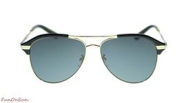 Gucci Men Sunglasses GG0288SA 001 Black Gold Grey Lens Aviator 60mm Auth... - $237.65