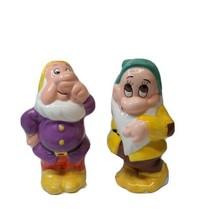 Treasure Craft Disney Snow White Sneezy Bashful Salt & Pepper Shakers 26... - $11.56
