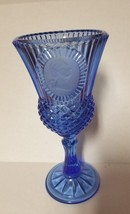 Avon George Washington Goblet Fostoria Cobalt Blue Glass - $5.93