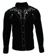 Cowboy Shirt Camisa Vaquera Western Wear El General Long Sleeve Black  - €29,72 EUR+
