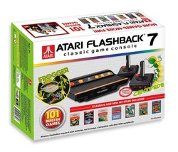 Atari Flashback 7 Classic Game Console Retro 101 Built in Games Plug Play Black - $55.99