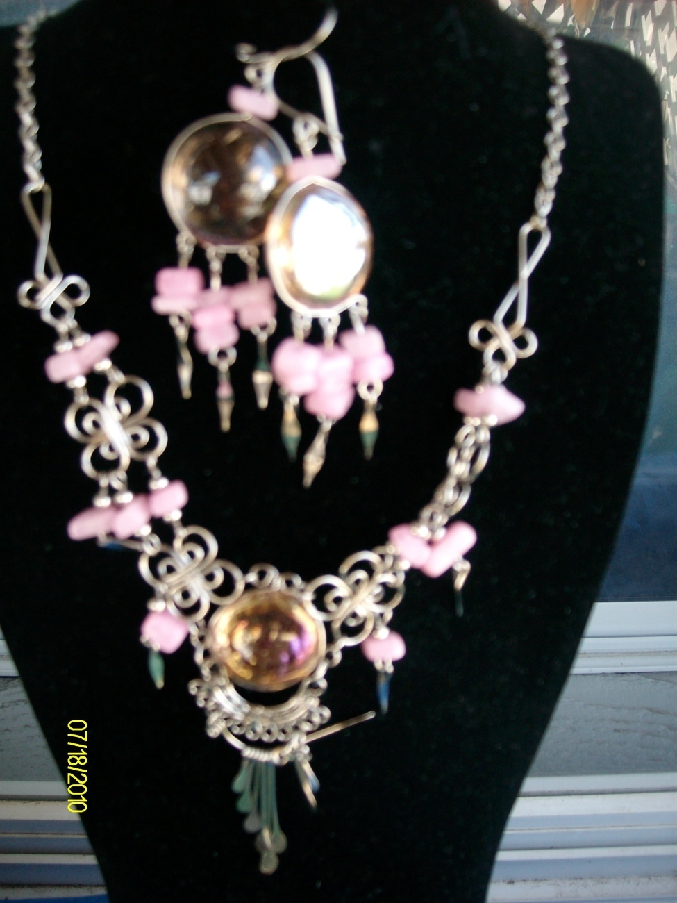 Alpaca   Necklace and Earring Set  ( A-10 )  Bonanza